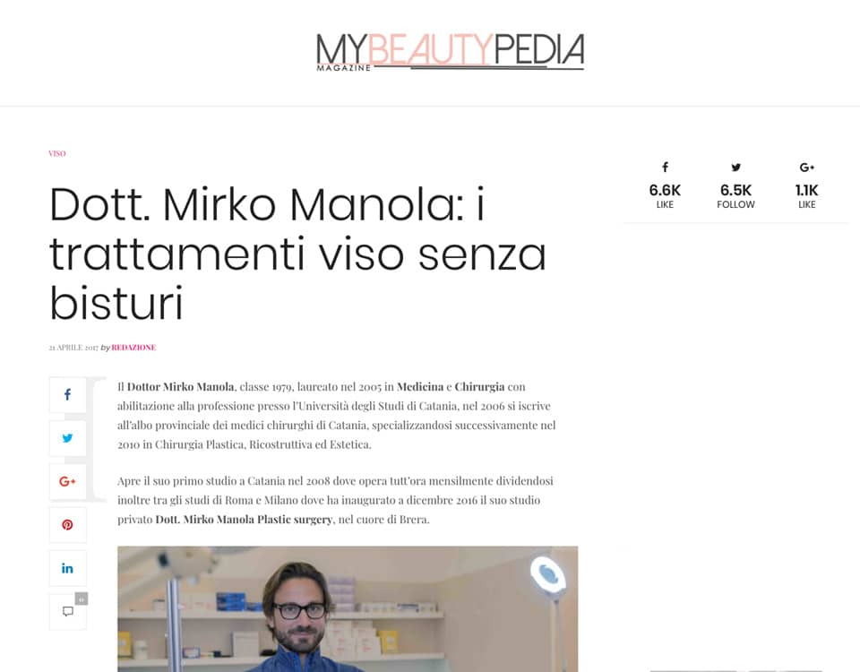 Dott. Mirko Manola: i trattamenti viso senza bisturi