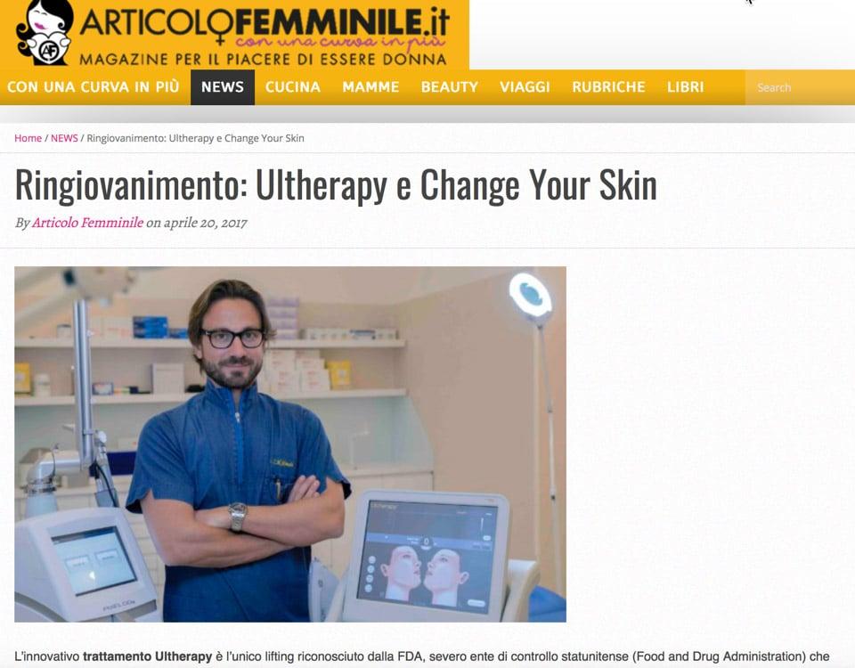 ringiovanimento Ultherapy e Change Your Skin